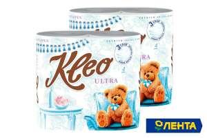 Туалетная бумага KLEO (4 рулона 3 слоя, в ассортименте)