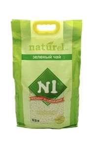 Комкующийся наполнитель N1 Naturel Зеленый чай, 17.5 л