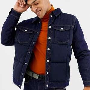 Куртка Bershka джинсовая дутая