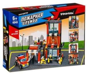 Конструктор Bondibon Пожарная служба ВВ4048 Пожарная станция
