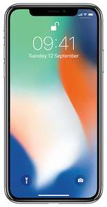Смартфон Apple iPhone X 256GB серебристый