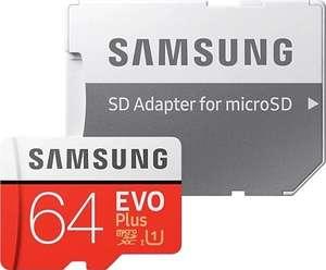 MicroSD Samsung 64GB EVO plus + SD адаптер