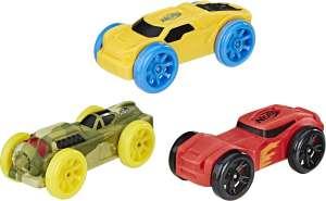 Скидки на товары Hasbro (например, Nerf Машинка Nitro цвет камуфляж желтый красный 3 шт)