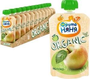 Пюре ФрутоНяНя из яблок Organic, с 4 месяцев, 90г (12шт)