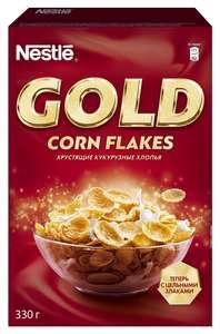 Готовый завтрак Nestle Gold Corn Flakes хлопья, коробка, 330 г
