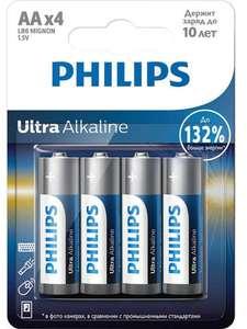 Батарейки Philips Ultra Alkaline LR6E4B/51 AA 4 шт.