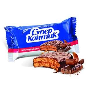 Печенье-сэнд. СУПЕР-КОНТИК шоколадное, 100г