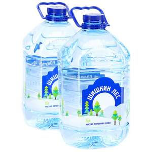 Вода питьевая Шишкин лес, негазированная, 2 штуки по 5 л