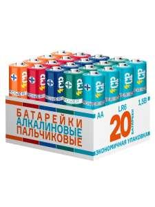 Батарейки алкалиновые пальчиковые CRAZYPOWER LR6, АА, MN1500, 15A, 20 шт.