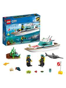 Конструктор LEGO City Great Vehicles 60221 Яхта для дайвинга