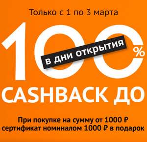 [СПб] Сертификат на 1000₽ при покупке от 1000₽ в Ситилинк