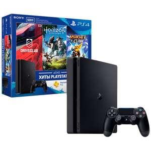PS 4 Slim + 3 игры + 3 месяца подписки на PS Plus в Мвидео