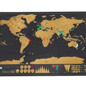 Скретч Карта Мира 42 x 30 cм за 2.2$