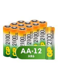 Аккумуляторы от GP AA, 12 шт
