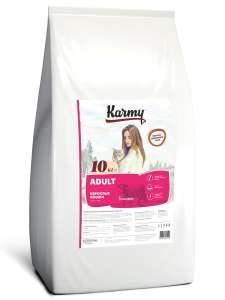 Корм для взрослых кошек старше 1 года с телятиной Karmy 10кг