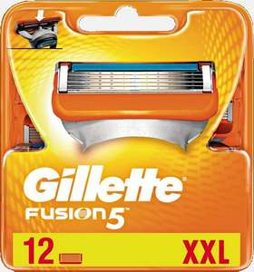[Мск] Сменные кассеты для мужских безопасных бритв Gillette Fusion - 12 шт в уп.
