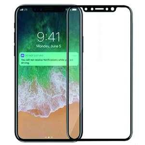 Защитное стекло из углеродного волокна HD для iphone X / XS (White/Black)