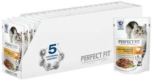Влажный корм для кошек Perfect Fit при чувствительном пищеварении, с индейкой 24 шт. х 3 упаковки (372₽ за 1 упаковку)