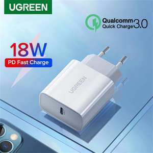 Быстрая зарядка Ugreen USB Type-C QC 3.0 18 Вт
