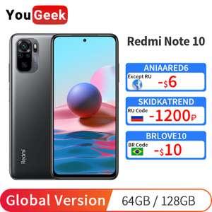 Смартфон Xiaomi Redmi Note 10 4+64 Гб