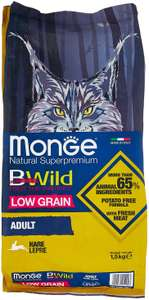 Сухой корм для кошек Monge BWILD Feed the Instinct, с зайцем 1.5 кг на Tmall