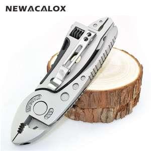 Мультитул NEWACALOX (нож, пила, гаечный ключ, плоскогубцы, гаечный ключ, отвертка) за 688р. + доставка бесплатно.