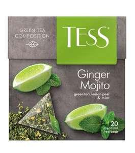 Чай зеленый Tess Ginger mojito в пирамидках, 20 шт *4 (36₽ за 1 пачку)
