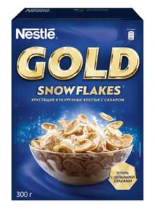 Готовый завтрак Nestle Gold Snow Flakes хлопья, коробка, 300 г 4 упаковки (82₽ за 1 шт.)
