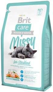 Brit Care Cat Missy for Sterilised для кастрированных котов и кошек, курица, 7 кг. на Tmall