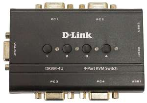 KVM-переключатель D-link DKVM-4U/С