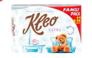 Бумага туалетная KLEO Ultra 3-слоя белая, 12шт