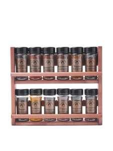 4 штуки. Подарочный набор из 12 видов специй на деревянной полке (331₽ за штуку)