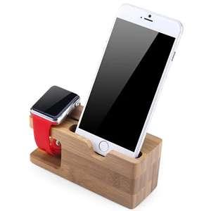 Бамбуковая подставка для смартфона и часов - $3.99 с кодом STATIOHG