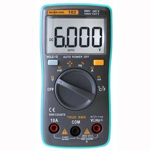 Цифровой мультиметр RICHMETERS RM102 за 702р.(11,89$) + доставка бесплатно.