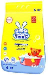 Стиральный порошок Ушастый Нянь 6кг для стирки детского белья