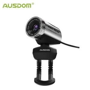 Веб-камера AUSDOM AW615 HD с микрофоном, USB 2,0, 1080P