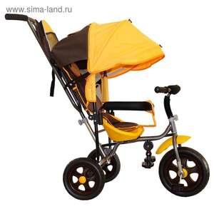 """[Екб] Велосипед трехколесный Лучик Малют 2, колеса EVA 10""""/8"""", цвет коричнево-желтый"""