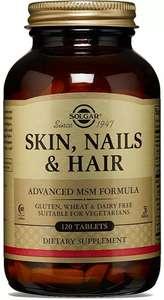 """Комплекс Solgar """"Кожа, волосы, ногти"""" с МСМ, 1397 мг, №120 (доставка не во все регионы)"""