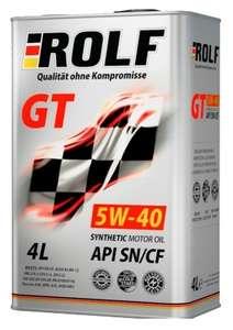 Моторное масло ROLF GT 5W-40 Синтетическое 4 л