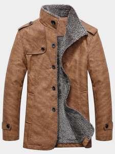 Демисезонное пальто из искусственной кожи за $19.99