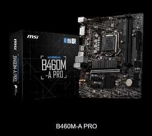 Материнская плата MSI B460M-A PRO, LGA 1200, Intel B460, mATX, Ret