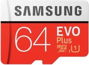 Карта памяти Samsung MicroSDXC Evo Plus 64GB (MB-MC64HARU)