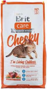 Сухой корм для кошек Brit Care Cheeky для живущих на улице, с олениной, с рисом 7 кг (2 упаковки)