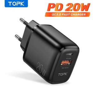 Быстрая зарядка Topk B210P 20 Вт