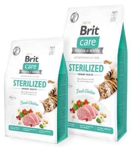 Сухой корм для стерилизованных кошек Brit Care беззерновой, профилактика МБК с курицей, 7 кг