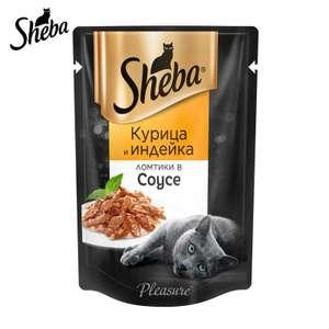 Влажный корм для кошек Sheba в соусе с курицей и индейкой, 24 шт по 85г. на Tmall