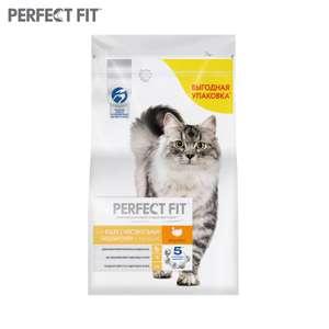 Корм сухой PERFECT FIT для взрослых кошек с чувствительным пищеварением с индейкой, 2.5кг на Tmall