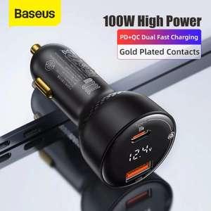 Автомобильное зарядное устройство Baseus 100 Вт