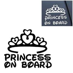 Наклейка Princess on Board  за 0.59$