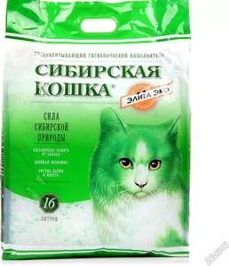 """Наполнитель силикагелевый Сибирская кошка """"Элита Эко"""", 16 л (7,3 кг) на Tmall"""